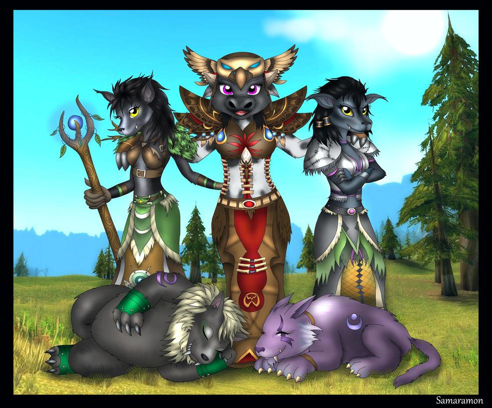 Rinike's Druids! (Commission) by Samaramon