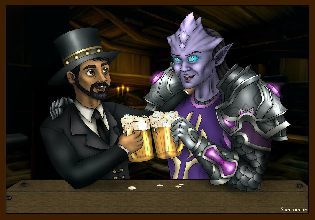 Have a beer! (Commission) by Samaramon