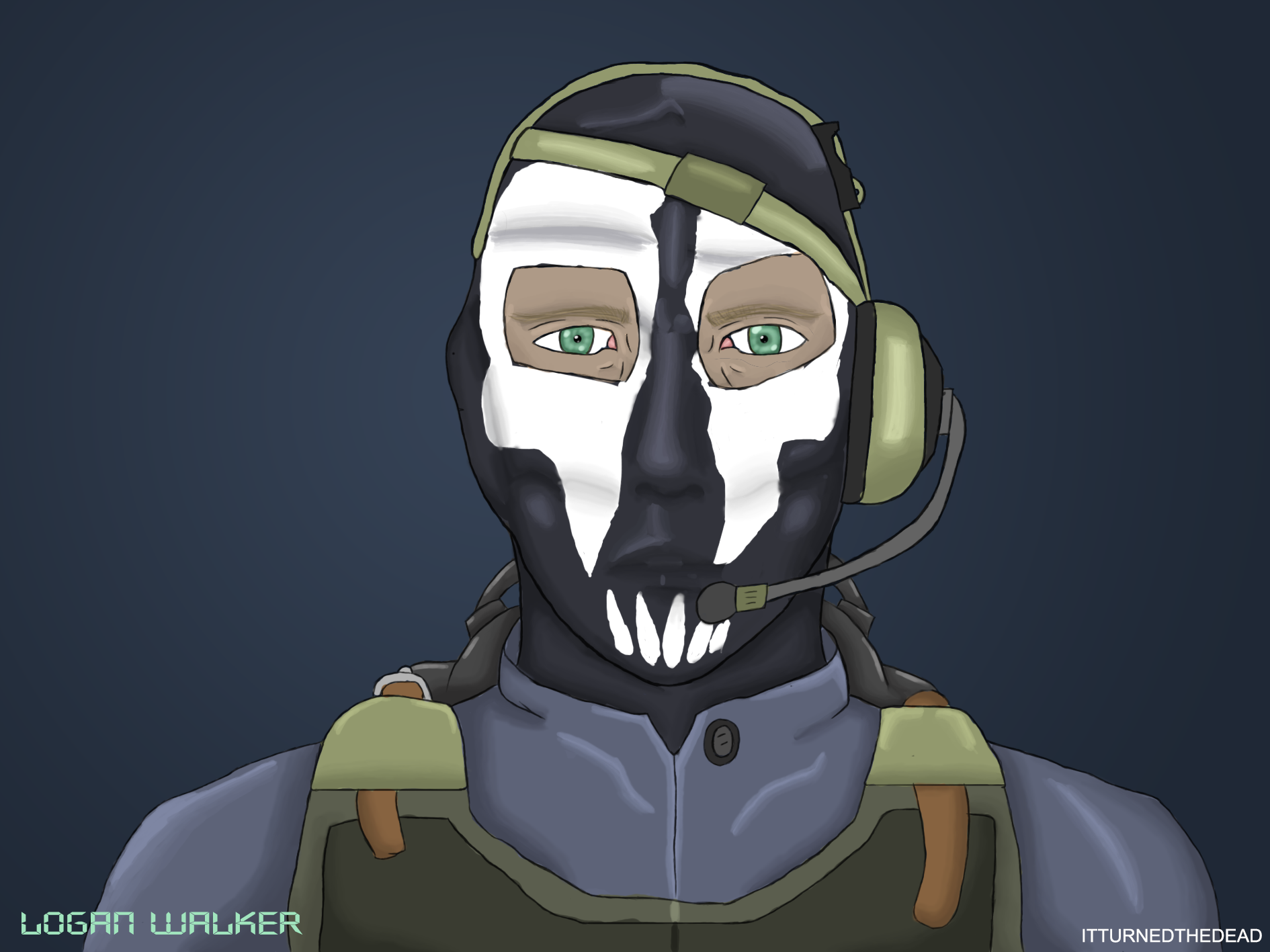 Cod Ghosts Logan Walker Fan Art By Itturnedthedead On Deviantart