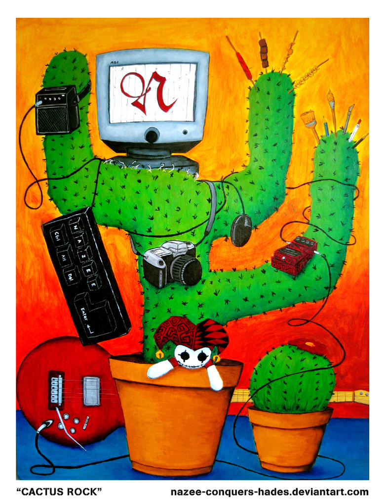 Cactus Rock by nazee-conquers-hades