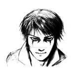 Amon smiling