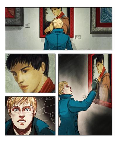 Paperlegends 2013 : Kieran/Arthur and Merlin by aureliebm