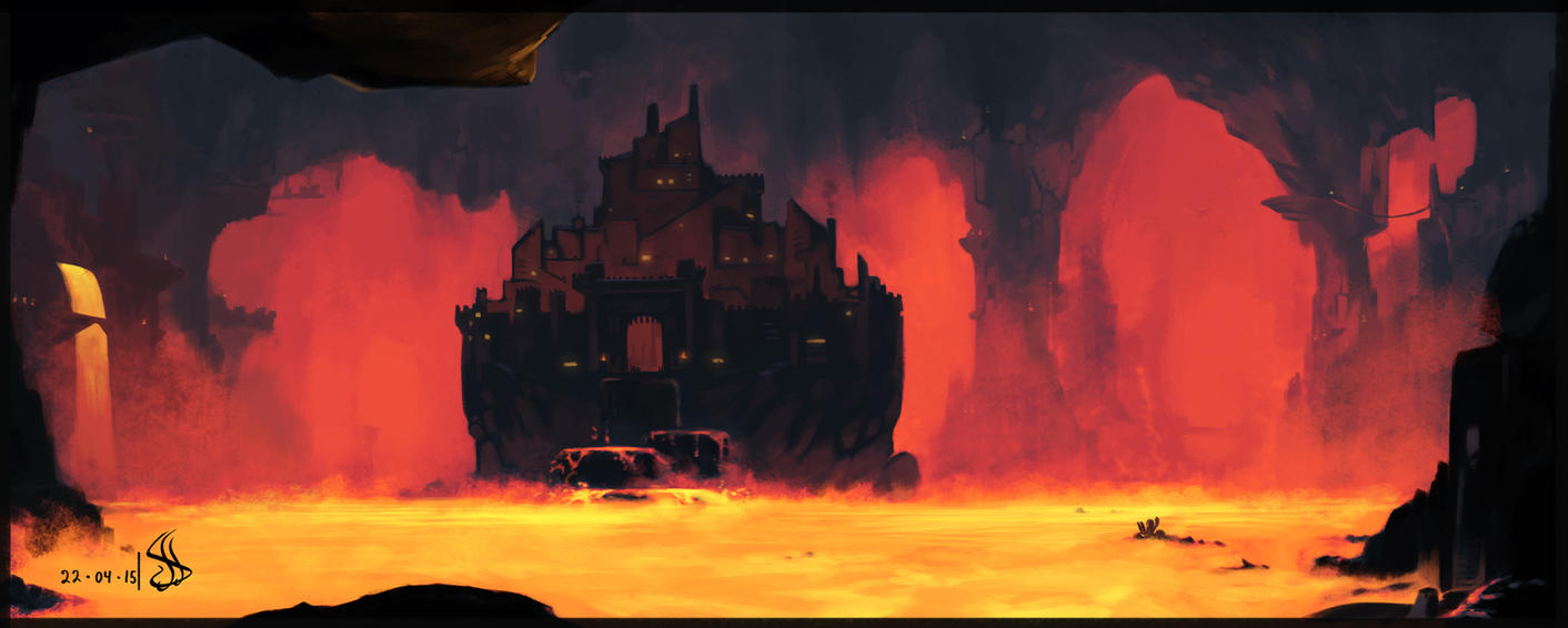 [Fan-Arts] Images du net - Page 20 Mata_nui_sights___ta_koro_fortress_by_iron6duck-d8qnhsz