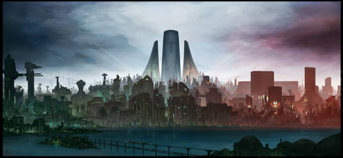 Metru Nui sights - An Island City