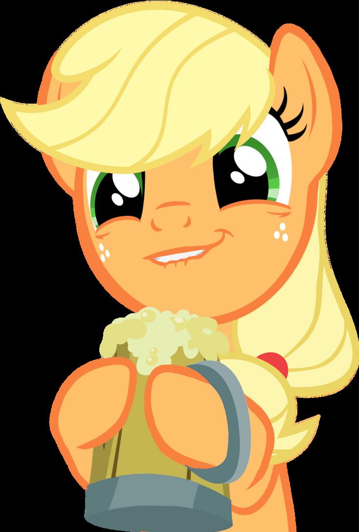 Applejack Cider Face Vector by ParagonAJ
