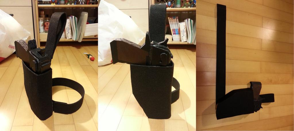Pistol Leg Holster WIP 01 by StealthNinja5