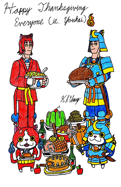 Youkai Thanksgiving Celebration by StealthNinja5