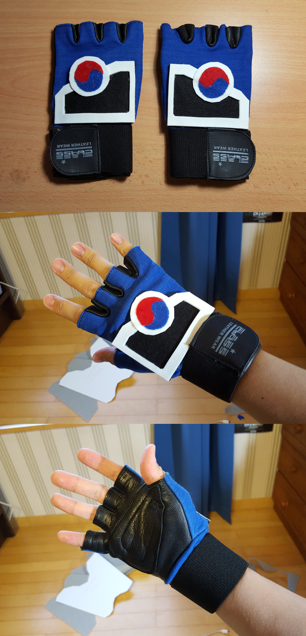 Hwoarang Training Gloves by StealthNinja5