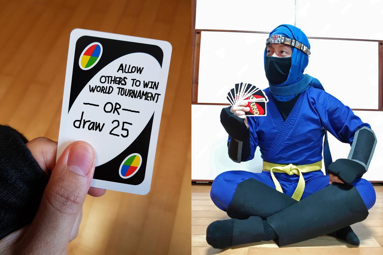 Uno Card Meme Kage Maru Cosplay Ver 01 By Stealthninja5 On Deviantart
