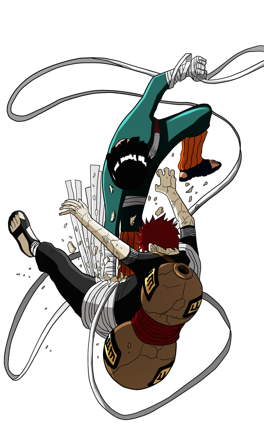 Chapter 16: Rock Lee vs Gaara | The Dragon and the Demon ... Gaara And Lee