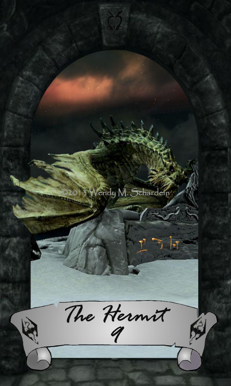 Skyrim Tarot 9 - The Hermit by Whisper292