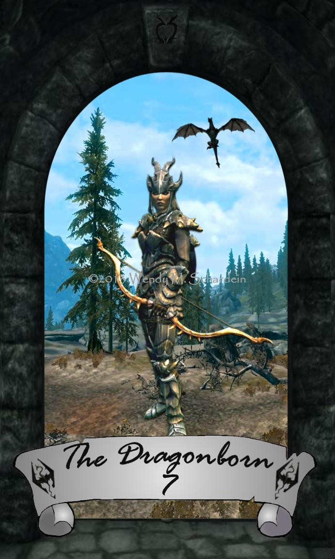 Skyrim Tarot 7 - The Dragonborn by Whisper292