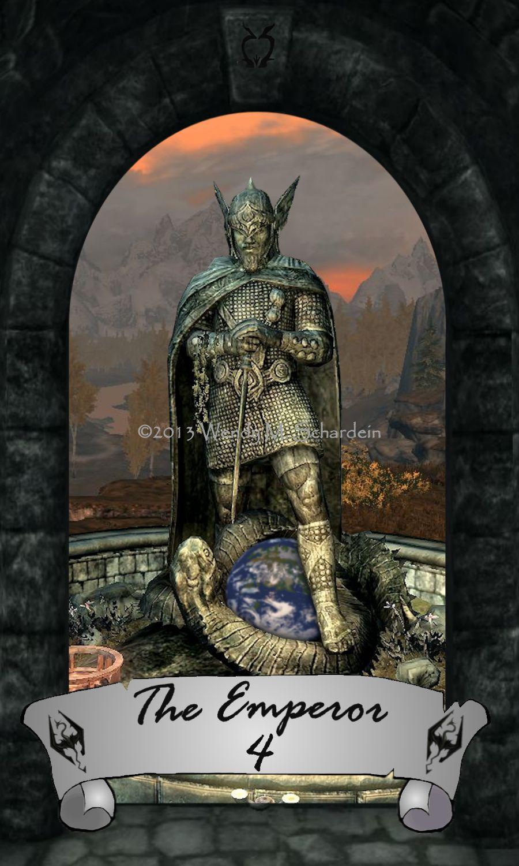 Skyrim Tarot 4 - The Emperor by Whisper292