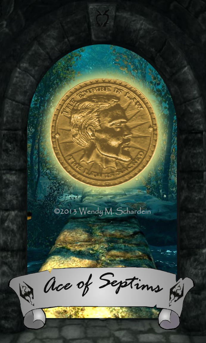 Skyrim Tarot - Ace of Septims by Whisper292