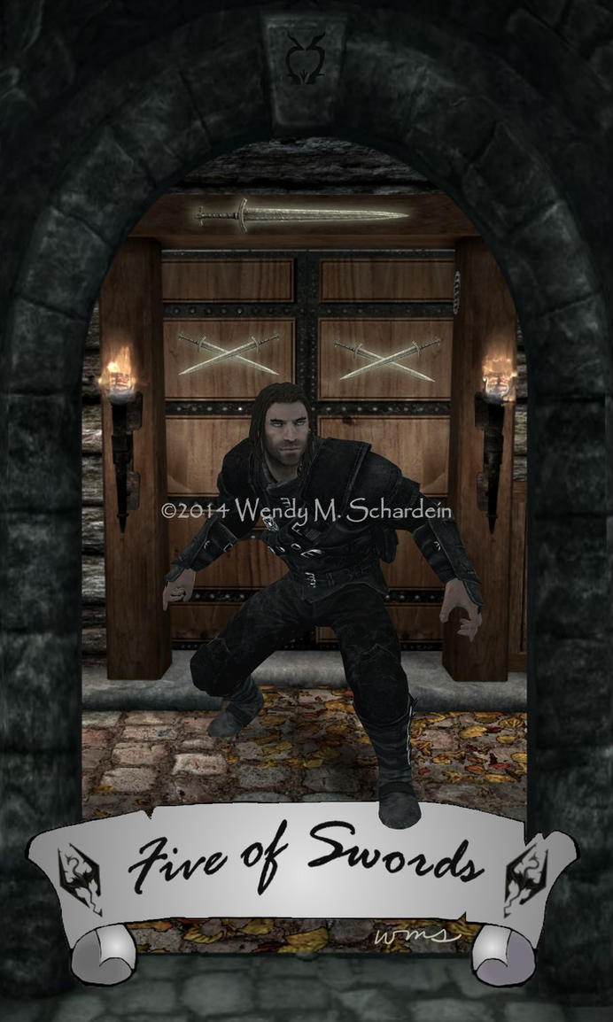 Skyrim Tarot - Five of Swords by Whisper292