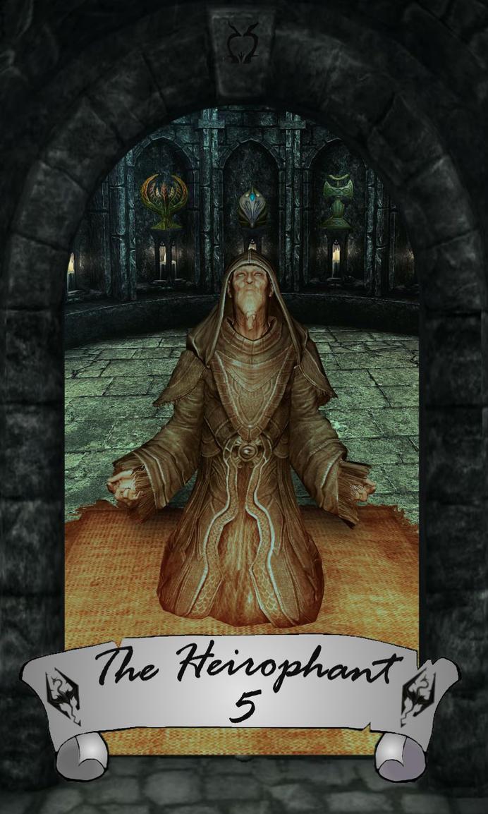 Skyrim Tarot 5 - The Hierophant by Whisper292