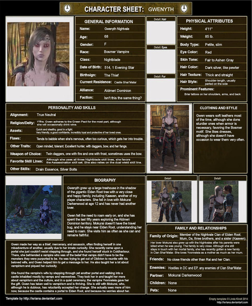 Gwenyth Character Sheet by Whisper292