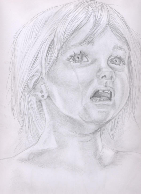 Crying child sketch by...