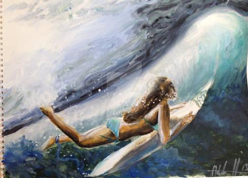 Surfer Watercolour