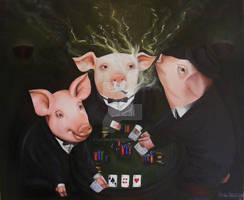 Pigs Playing Poker