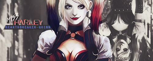 Nothing's better to keep the soul clean like hot water [Harley] [+18] Harley_quinn_signature_by_hex_plosive-d8tbdyr