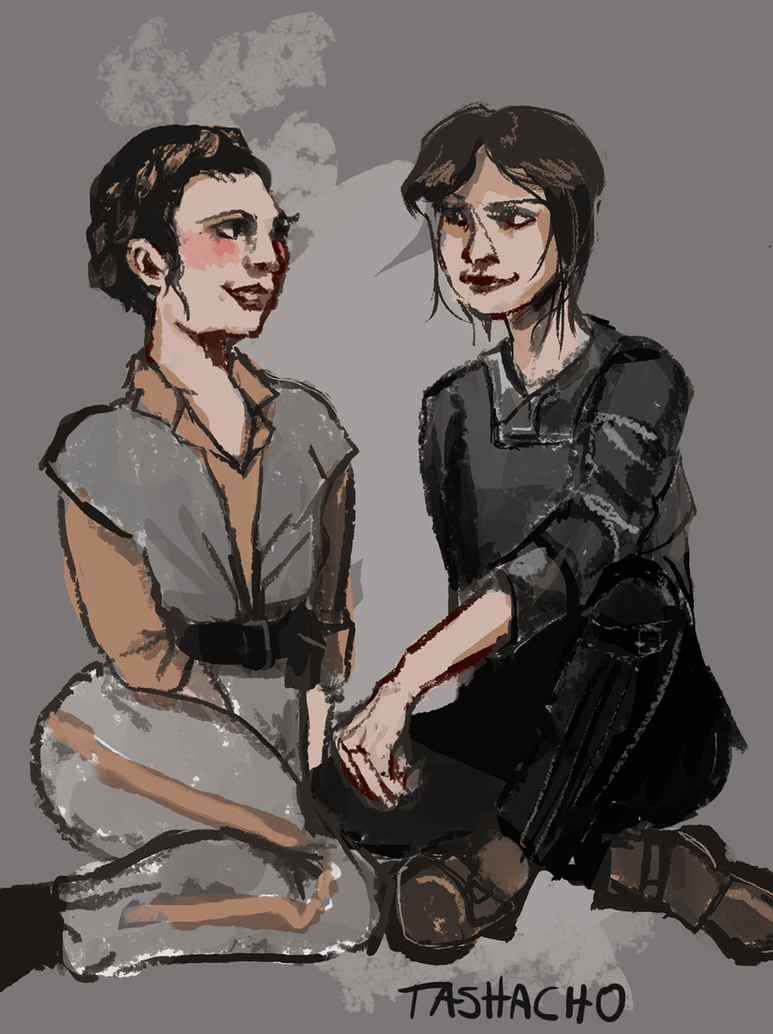 Jyn Erso and Leia Organa (Star Wars Fanart) by tashacho