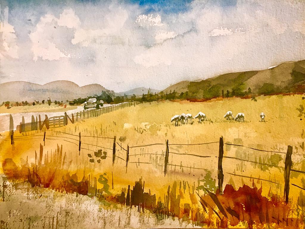 Landscape Speedpaint 6/8/17 by tashacho