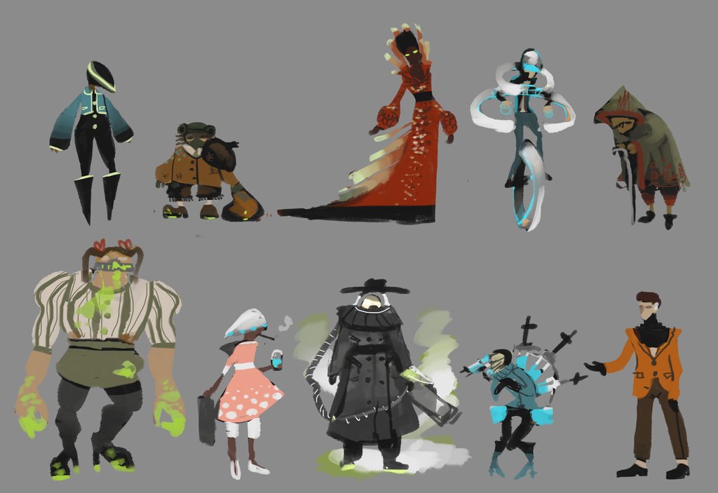 Colored Silhouettes WIP by tashacho