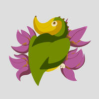 Banana Bird with Flowers