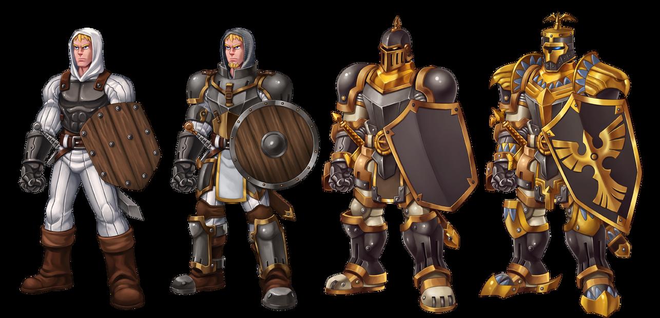 knight guard evolve by animot on deviantart