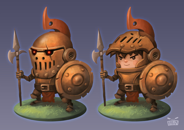 bronze knight by animot