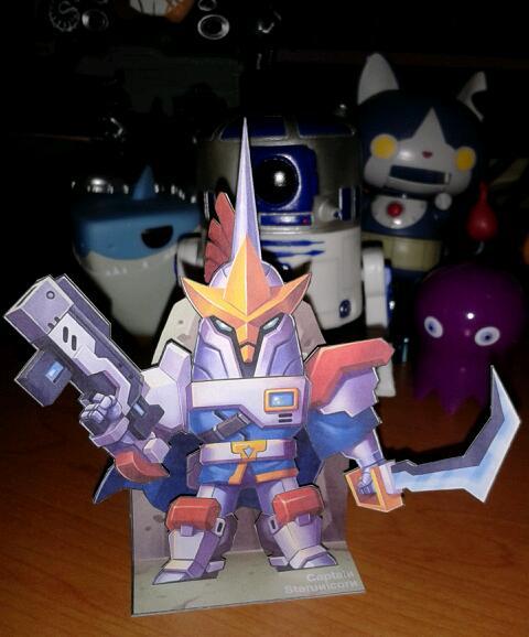 papertoy captain starunicorn by animot