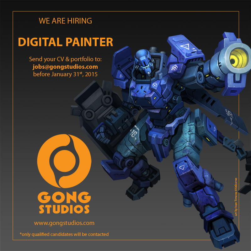 gong studios' job vacancy by animot