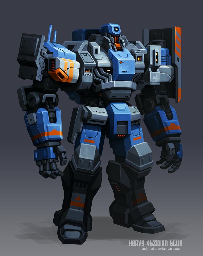Cyclops Heavy Obsidian Blue by animot