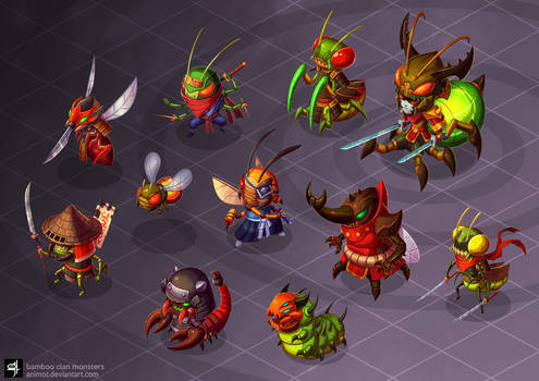 Bamboo Clan Monsters