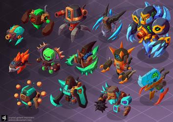 crystal golem monsters