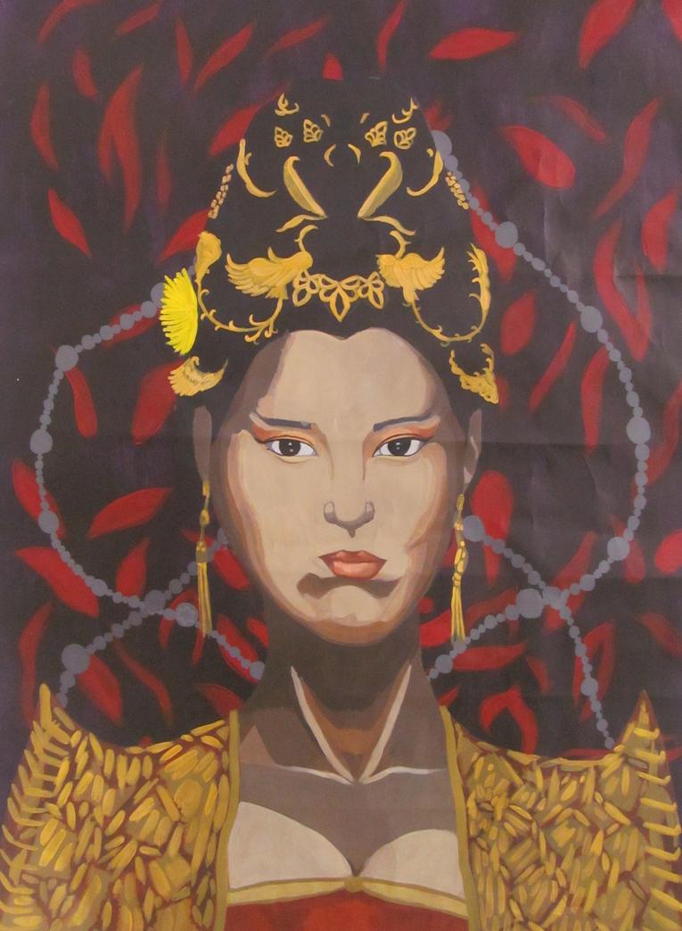 'Gong Li: Empress Curse of the Golden Flower' by AugustSilk