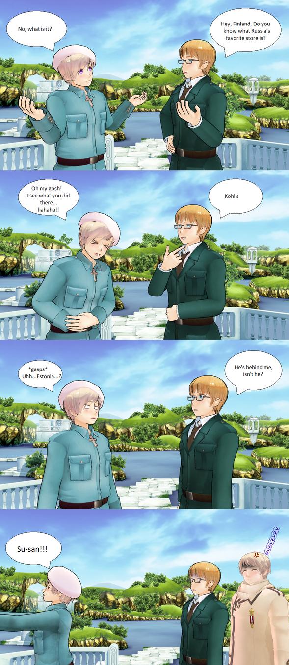 Hetalia MMD: Estonia's Joke by Talawolf2014