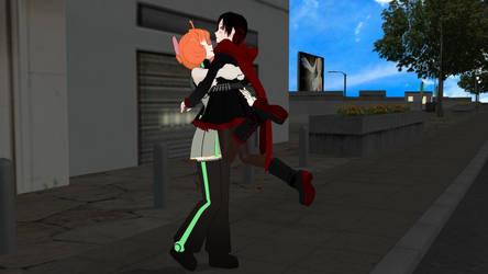 Penny's Friendly Hug by PerilousMMD