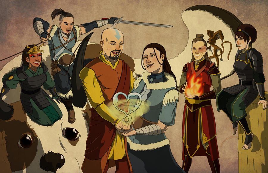 Avatar The Last Airbender Characters As Adults Commission: Ava...