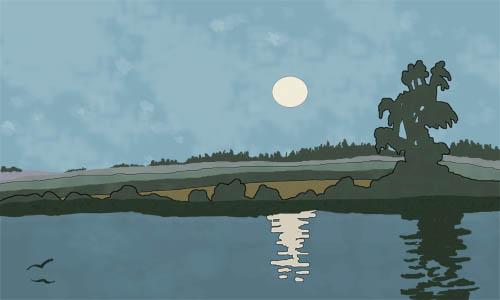 Bilibine inspired landscape by ravells