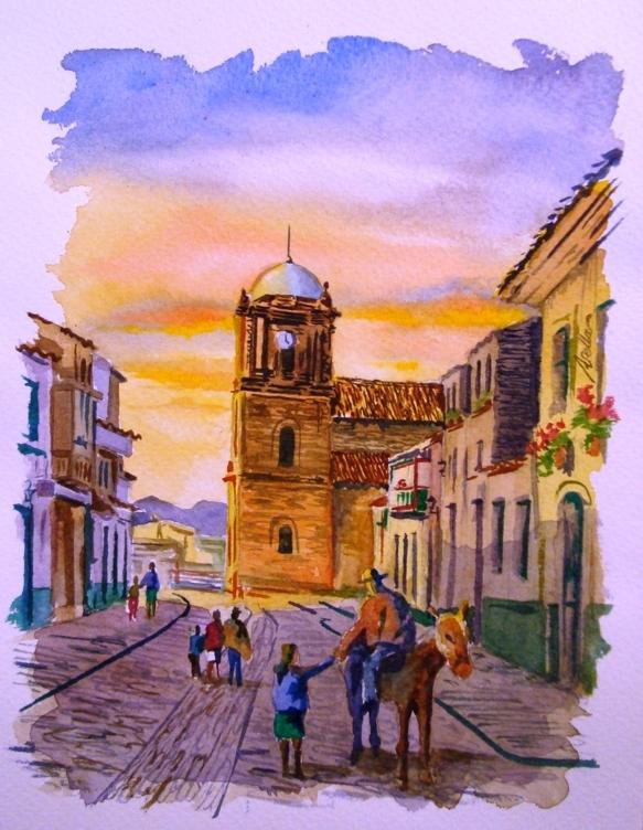 Calle de mongui - boyaca by avellajorge