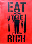 EAT THE RICH-Acrylic on Canvas