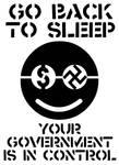 GO BACK TO SLEEP - stencil
