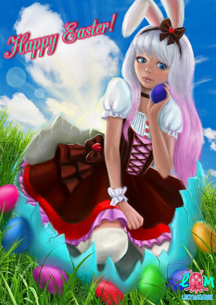 Easter rabbit by LucyMacabre