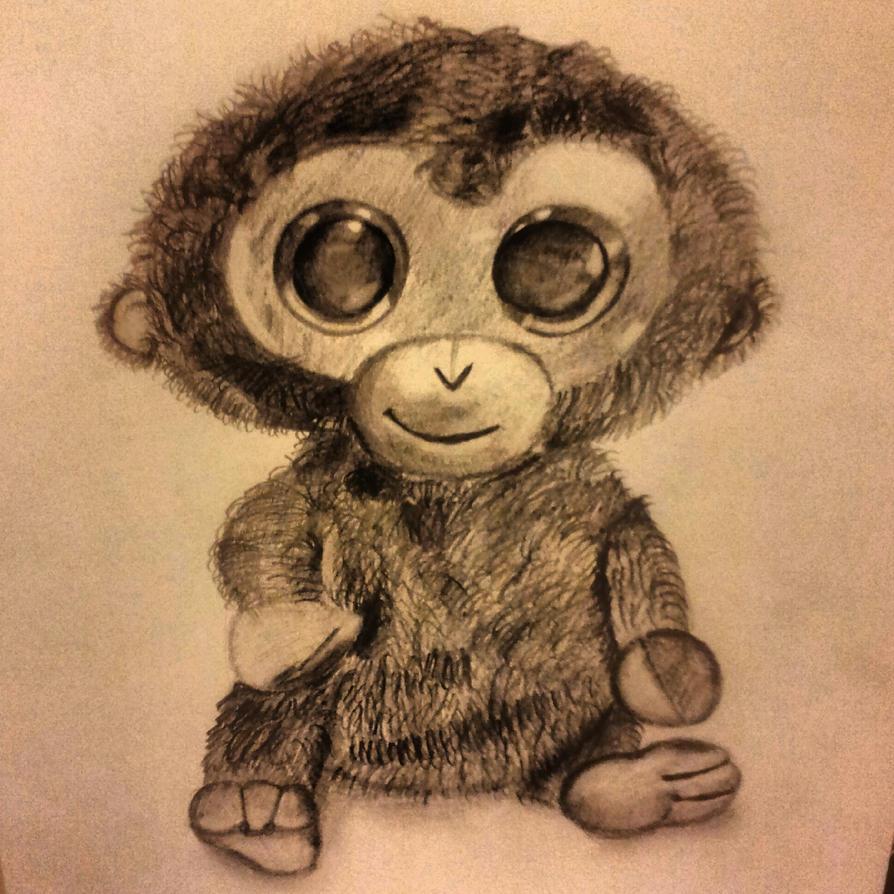 big eyed monkey toy drawing by paviteta on deviantart