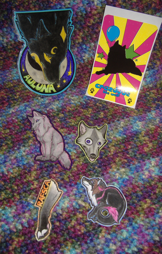 Badges and Sticker by Crazdude