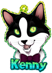 Kenny the Cat Badge