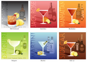 Classic Cocktail Drink Commissions by Crazdude