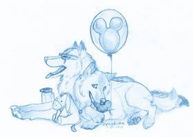 Craz + Rafsca go to Disney World by Crazdude